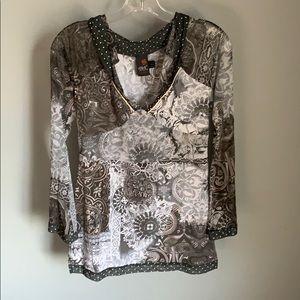 Anac Ladies Grey Long Sleeve Blouse